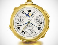 The world's most complicated watch, a 1933 timepiece made by luxury watchmaker Patek Phillipe was sold for an astounding $24.4 million USD at a Sotheby's auction in Switzerland. Commissioned in 1925 by prominent New York banker Henry Graves, the watch, which cost $15,000 USD, took three years of research and five years of painstaking effort to build.
