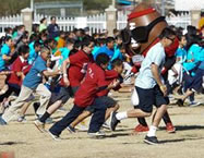 The Arizona Super Bowl Host Committee, Playworks , employee - volunteers from UnitedHealthcare and fourth - and fifth - grade students from 17 local elementary schools set the World Record for the W orld's Largest Game of Red Light, Green Light .