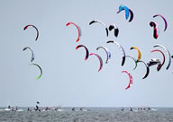 "An ""armada"" of 352 kitesurfers in southern Spain breaks the Guinness World Records record for the largest kitesurfing parade across one nautical mile."
