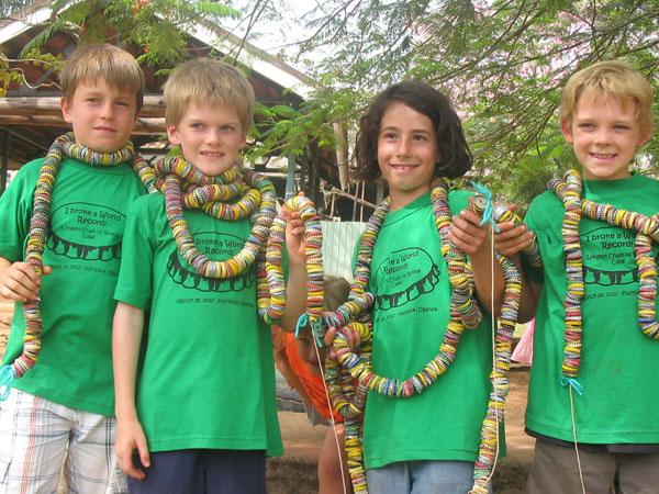Longest String Of Bottle Caps Ambrosoli Pupils Set World